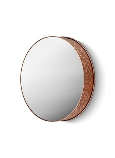 The Mia Ayna 34 Cm - Bakır Kaplama Siyah